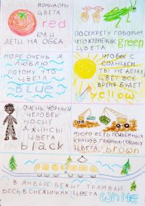 Учим цвета на английском. Для детей и родителей. Как легко запоминать английские слова. Запоминание цветов. Карточка страница 1