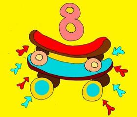 Как запоминать английские слова детям? Весёлый английский для детей. Учим цифры до 10 на английском. Page 4 Eight