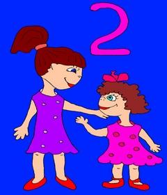 Как запоминать английские слова детям? Весёлый английский для детей. Учим цифры до 10 на английском. Page 4 Two