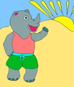 Карточки для изучения английского языка. Ещё один интересный урок английского языка. Учим английский весело. Page 7 rhino