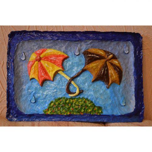 3d картина Зонтики на стену средняя. Креативный подарок парню