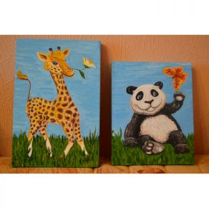 Картины в детскую комнату ручной работы на холсте с подрамником
