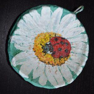 Купить мини панно серии Цветы «Божья коровка»