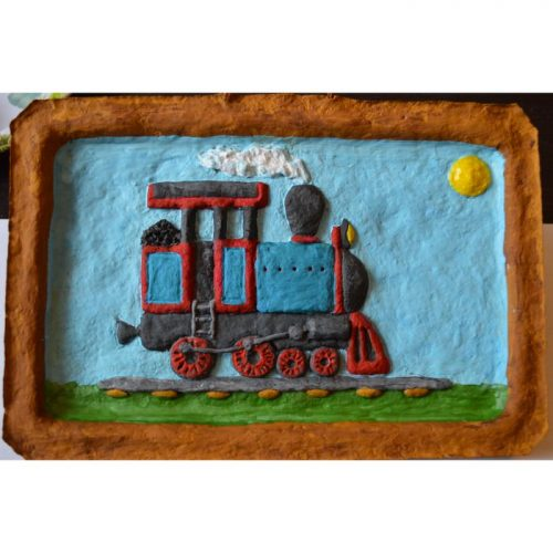 Лучший подарок железнодорожнику. Панно «Паровоз» объёмное