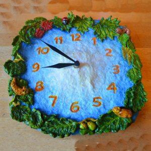 Часы настенные для детской комнаты ручной работы