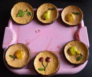 Мини тарелка из папье-маше декоративная «Груша». Серия «Объёмные фрукты»