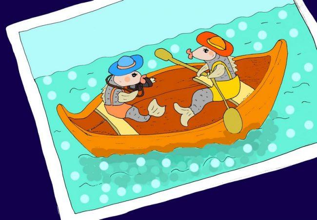 Селёдки в лодки иллюстрация к шуточному стиху