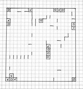 игра коридорчики - игра на бумаге с ручкой