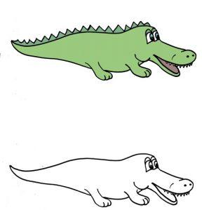 дорисовать картинку для малышей крокодил