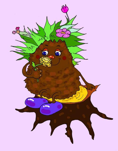 Грязючка детская картинка иллюстрация к стихам про грязь, подснежник и друзей