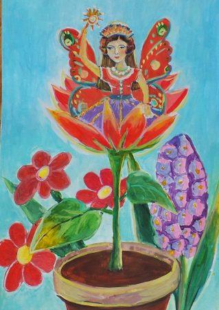 Детская иллюстрация к сказке про волшебную палочку и фею Люшу