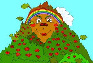 Гора - картинка к детской сказке в стихах про дождик