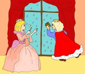 король и королева авторская иллюстрация к сказке про дождик