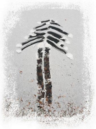 снежный рисунок рисунок на снегу иллюстрация к детскому стишку про снег
