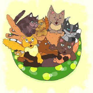 Котовинегрет иллюстрация к смешным стихам про котов